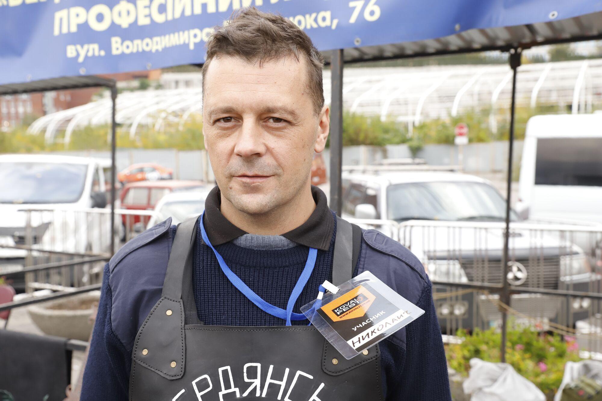 Александр Шапошник, кузнец из Бердянска