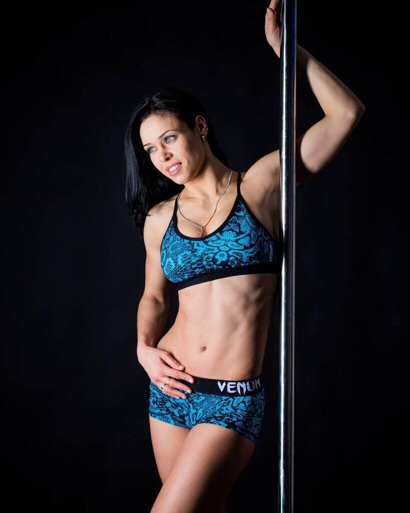 Елена Овчинникова на тренировке