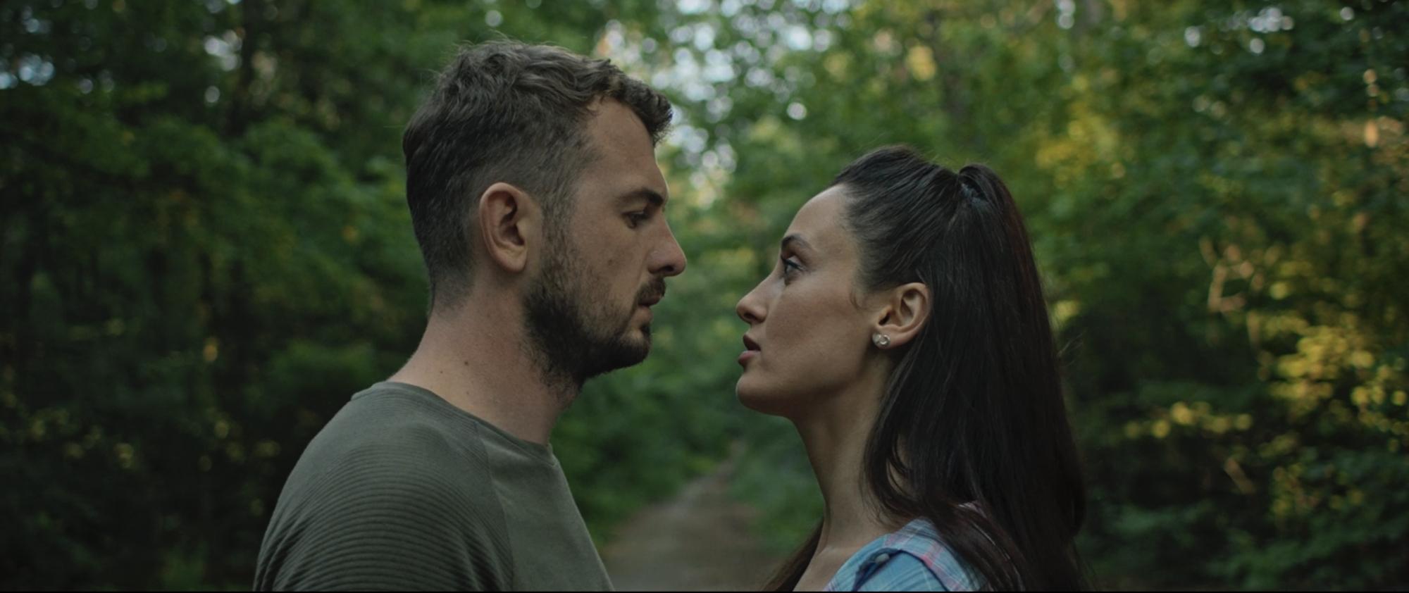 Кадр из фильма. Евгений Янович и Алина Паш