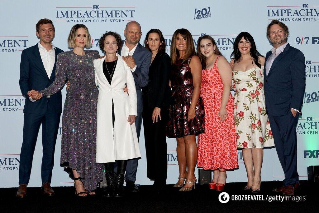 """Актеры на премьере сериала """"Импичмент""""."""