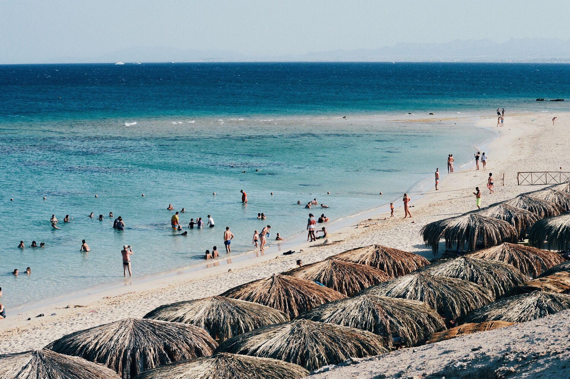 Пляжный отдых в Египте.