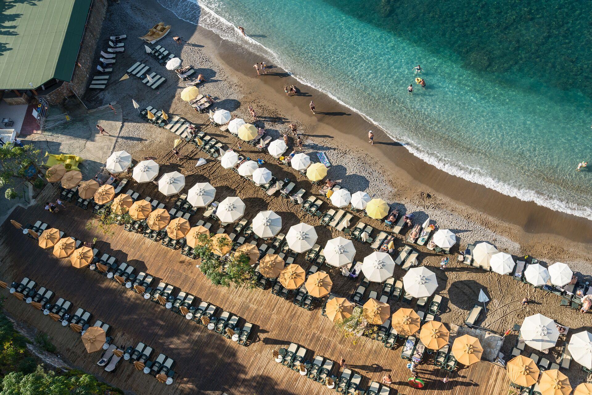 Пляжный отдых в Турции.