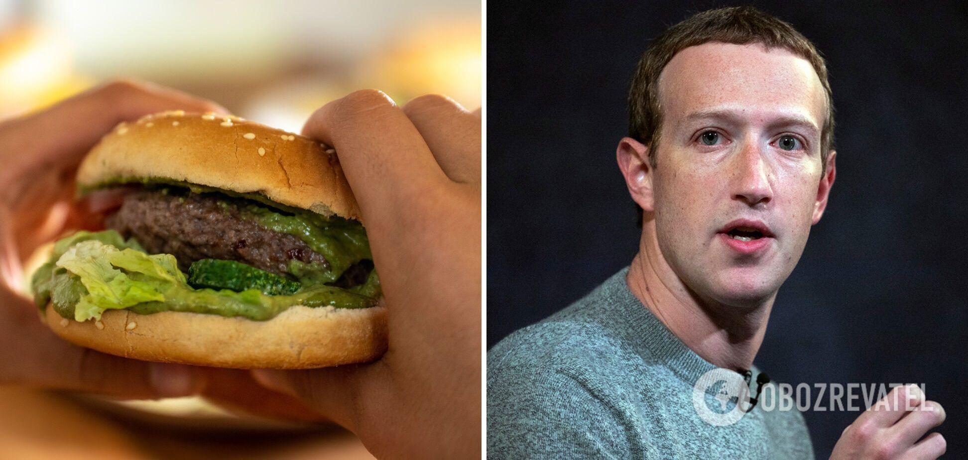 При цьому Цукерберг обожнює бургери