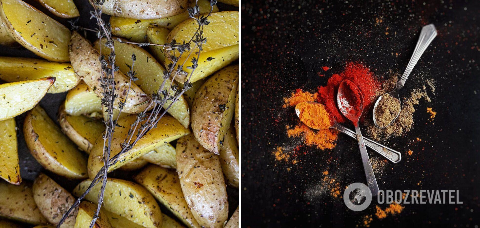 Картопля по-селянськи зі спеціями