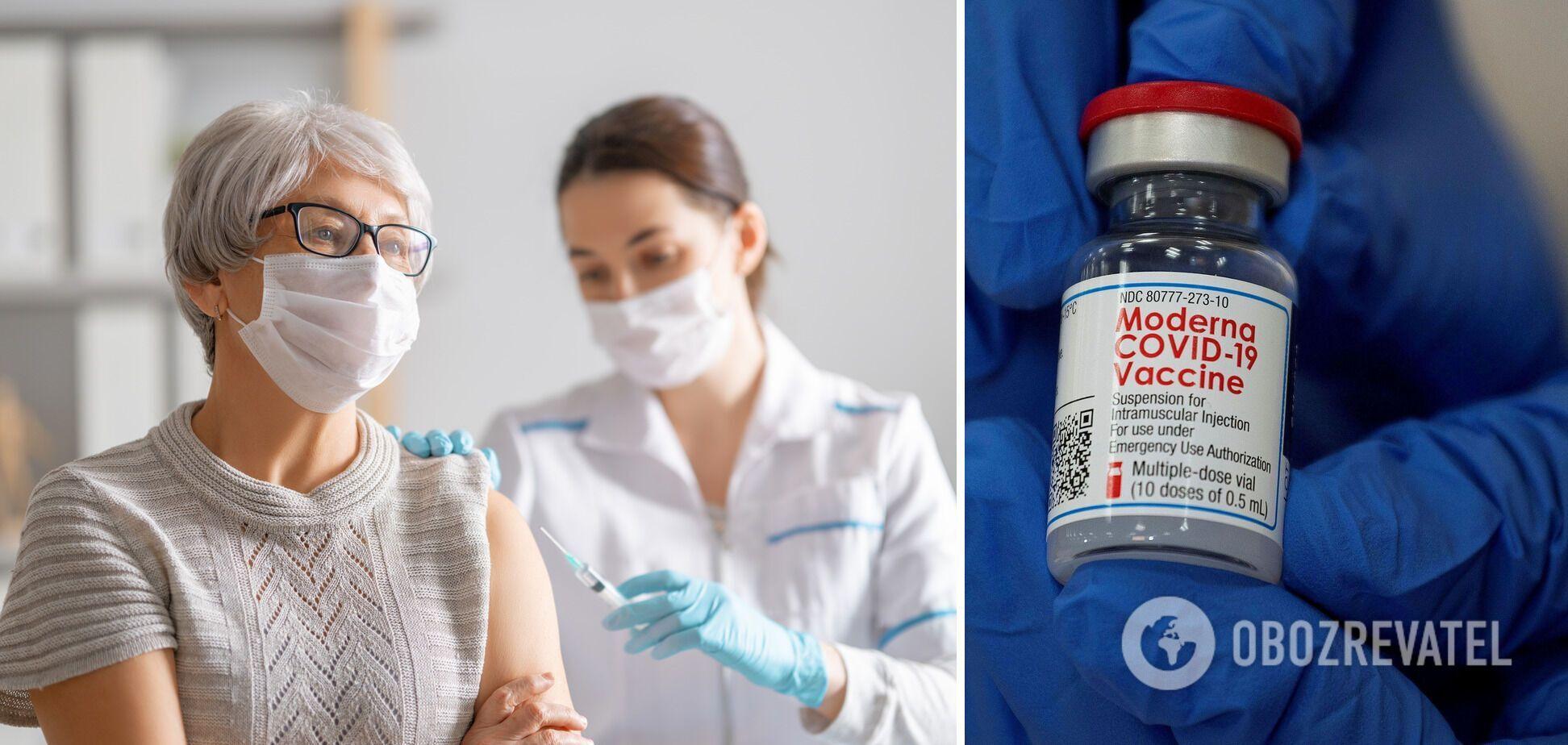 Бустерну дозу Moderna рекомендують людям із ослабленим імунітетом