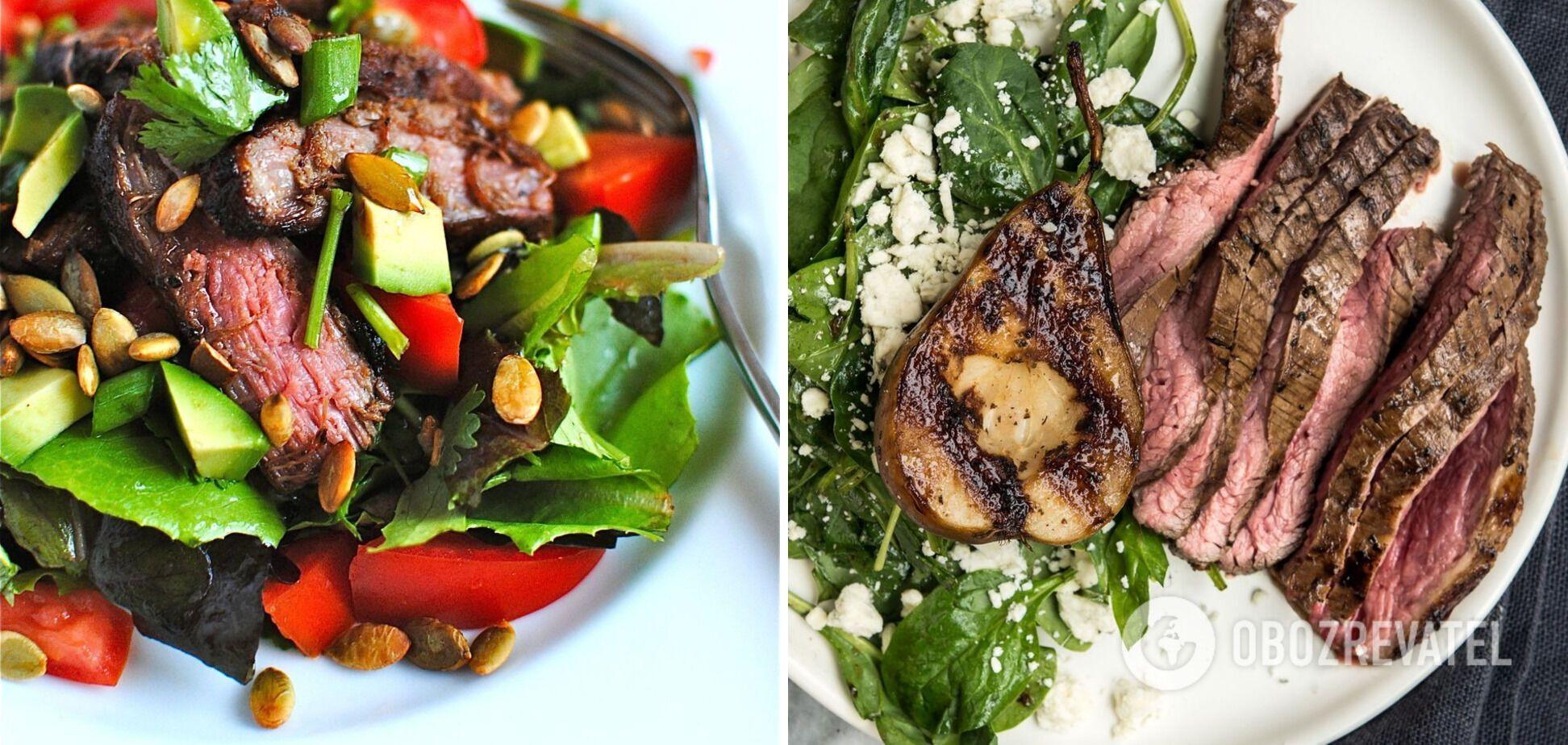 Салат з стейком