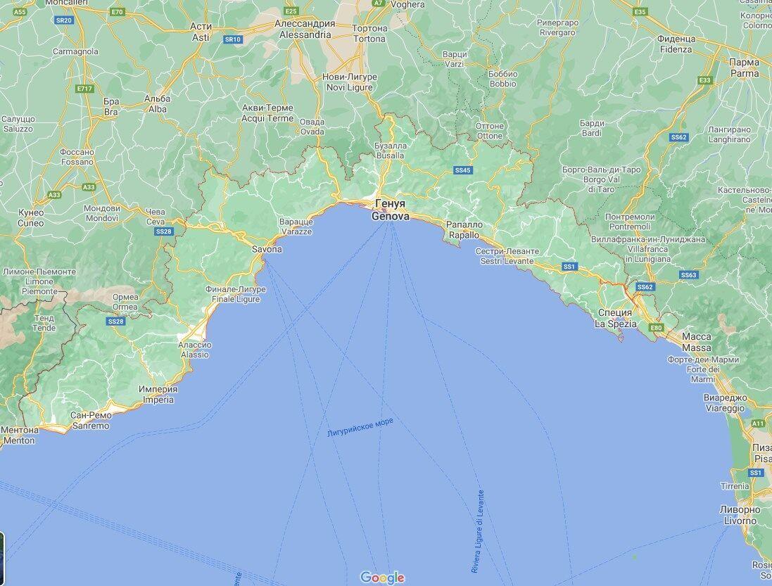 Стихія накрила регіон Лігурія.