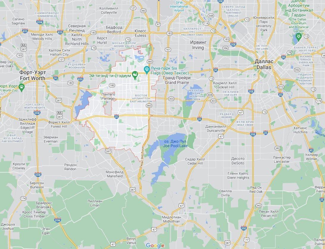 Стрельба произошла в городе Арлингтон, штат Техас.