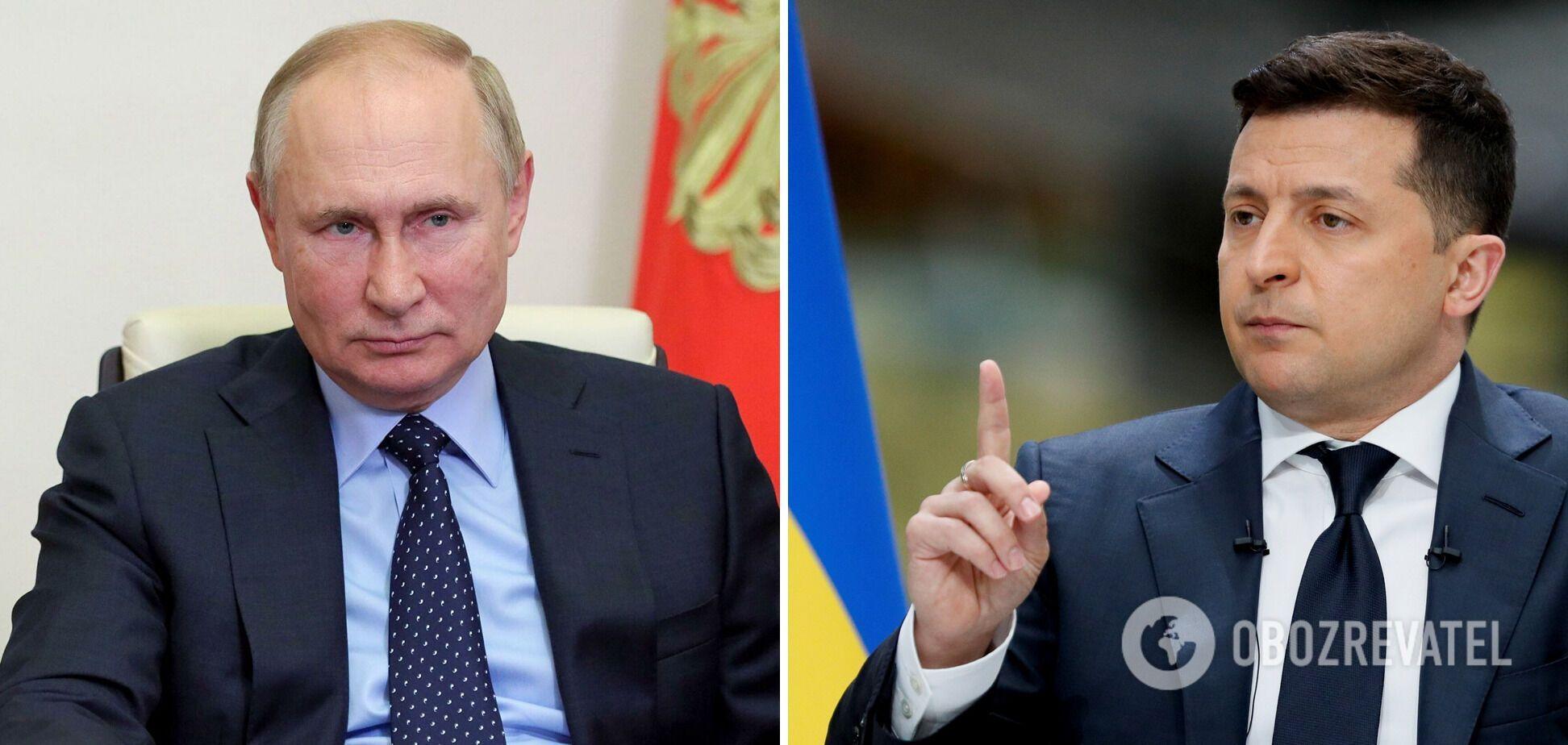 Путин не желает обсуждать с Зеленским темы Донбасса и Крыма