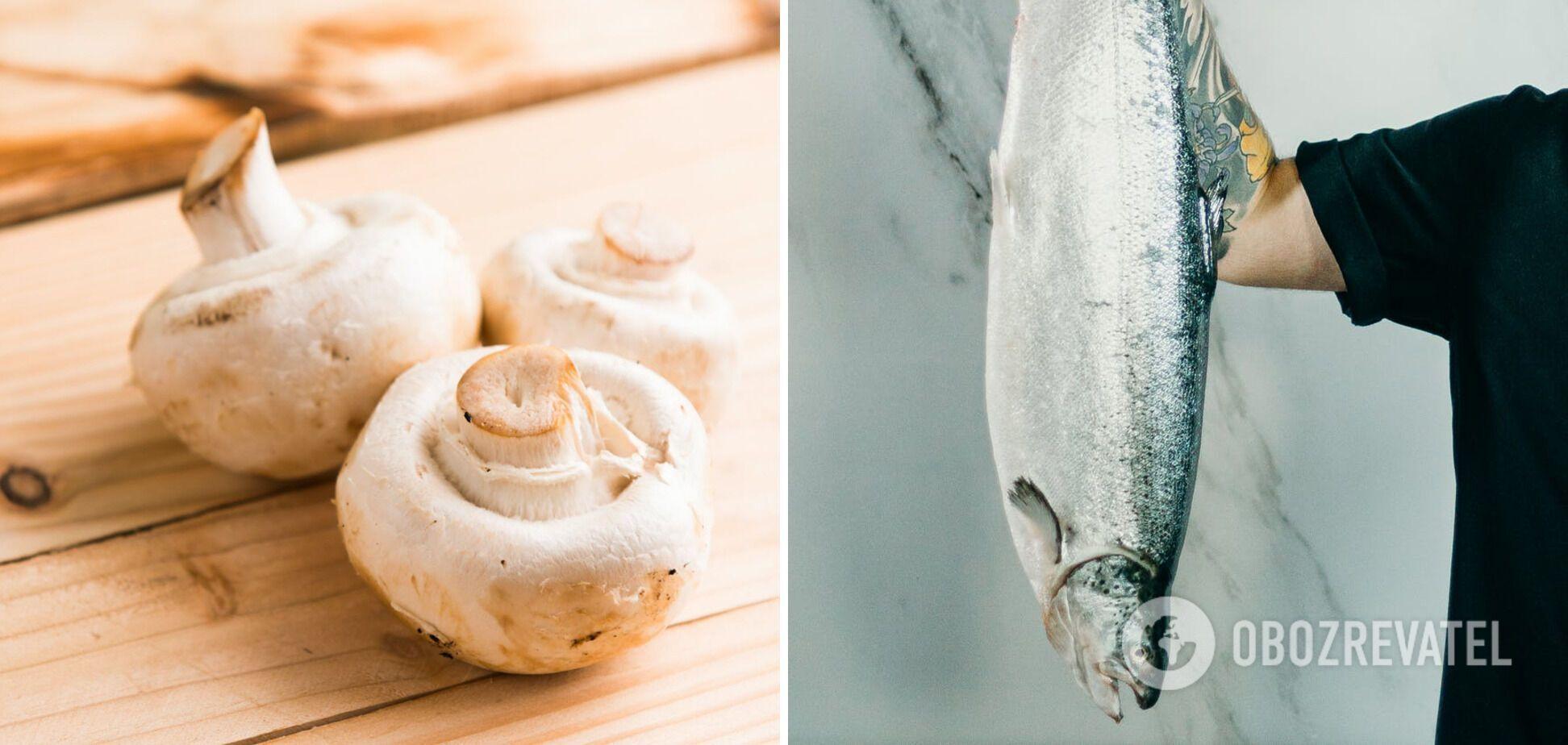 Гриби та риба – продукти. які потрібно готувати відразу після покупки
