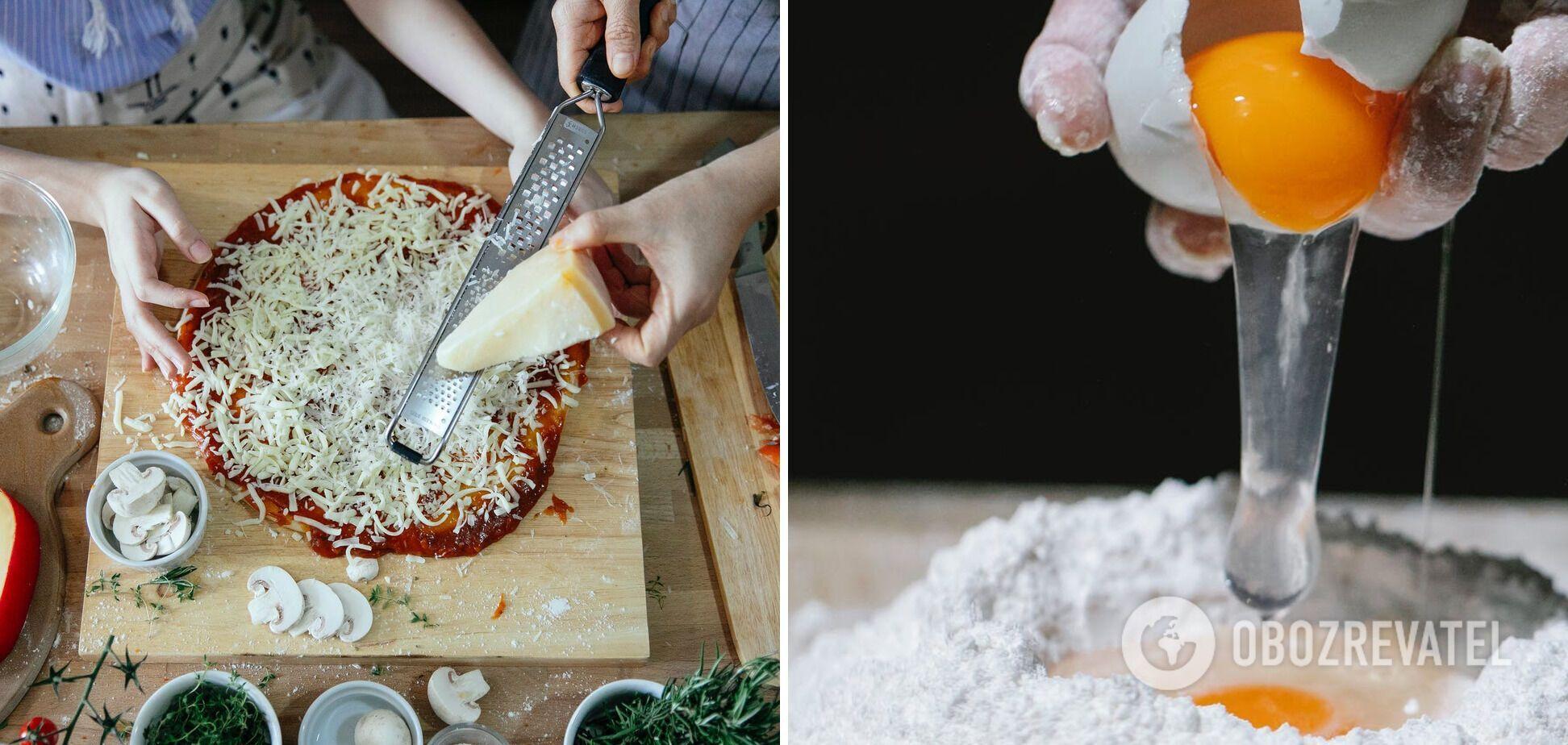 Процес приготування піци в домашніх умовах