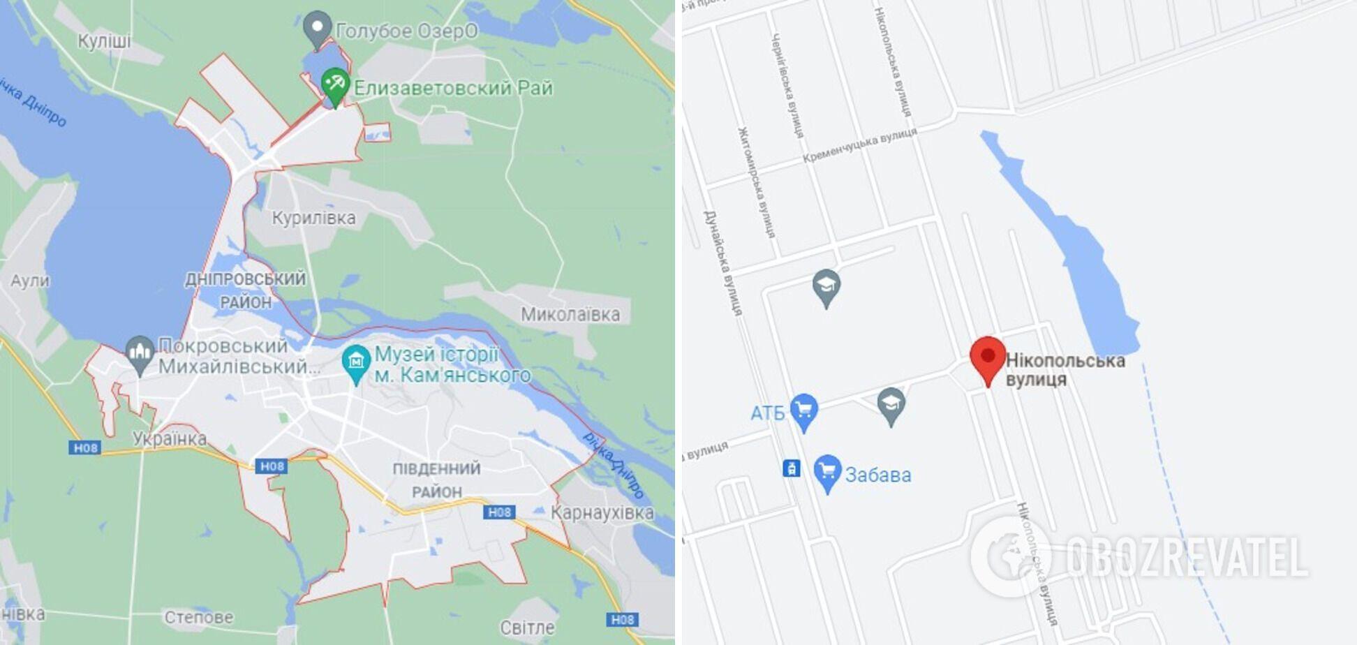 Случай произошел на ул. Никопольской в Каменском