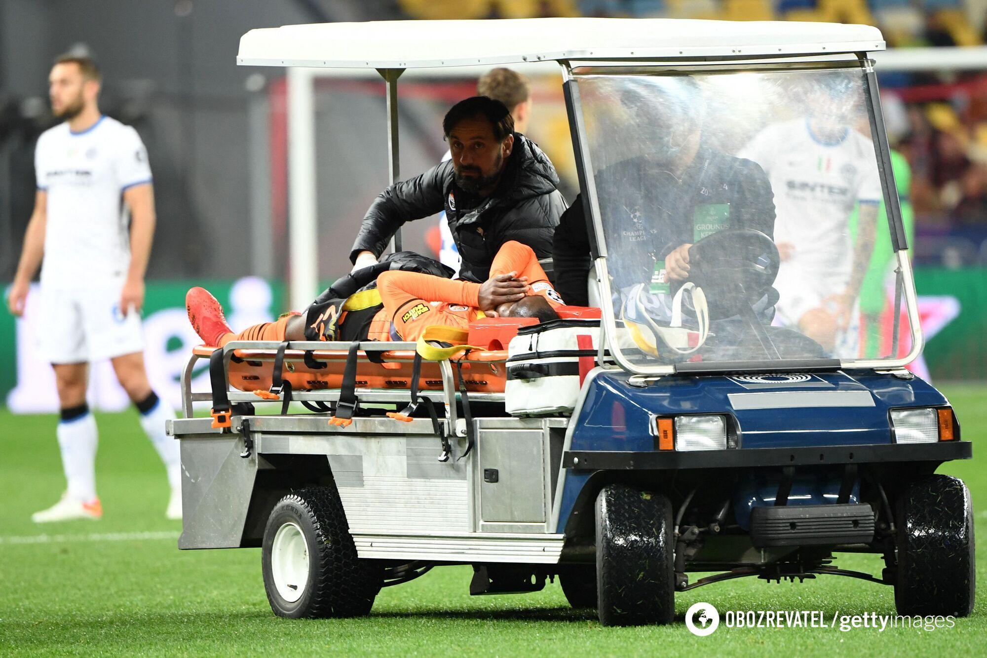 Гравця відвезли на медичному авто