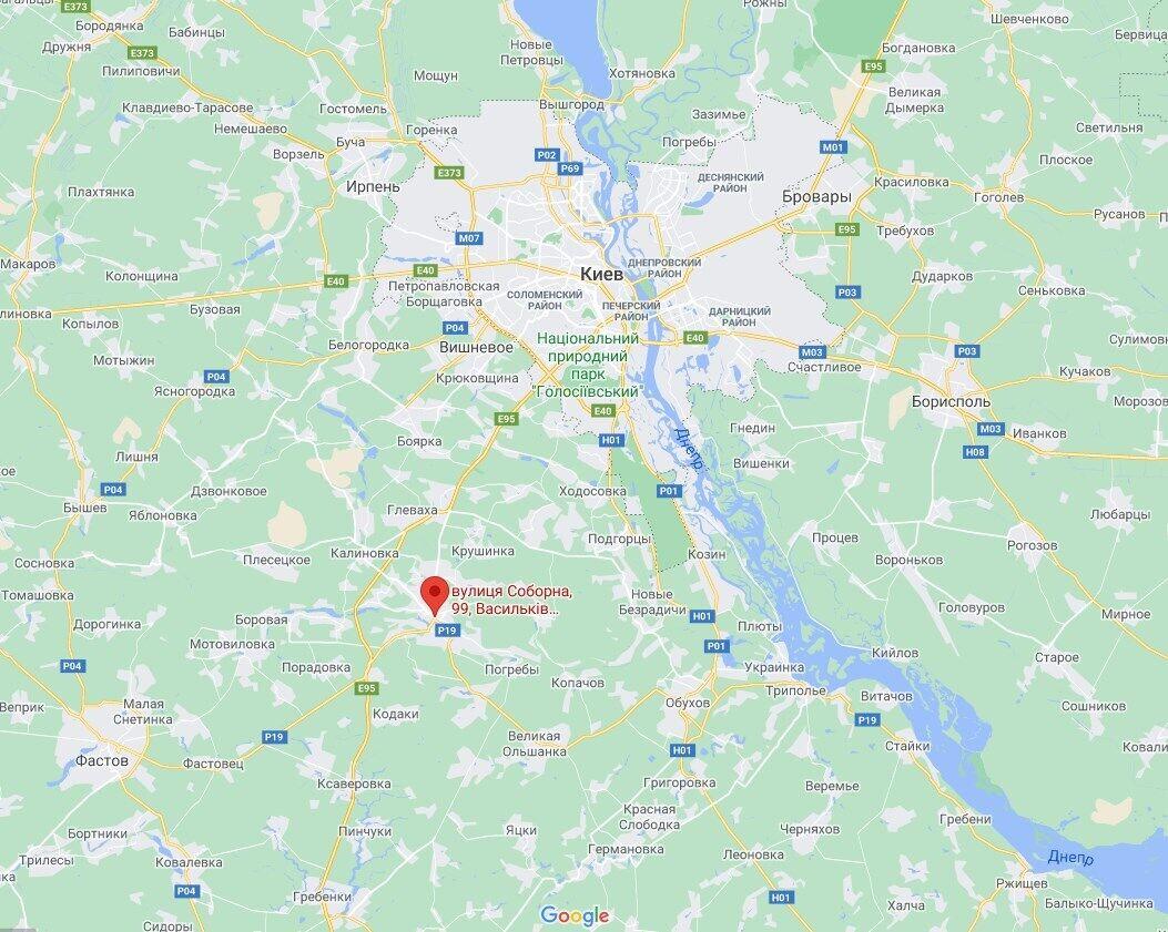 ДТП случилось в Василькове.