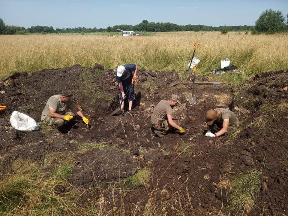 Под Львовом нашли останки тел воинов УПА.