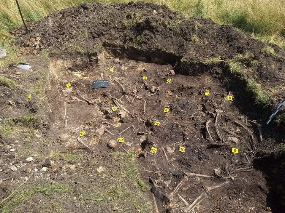 Найдены останки тел 16 человек.