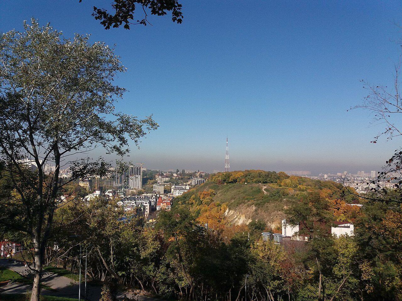 Вид на Замковую гору.