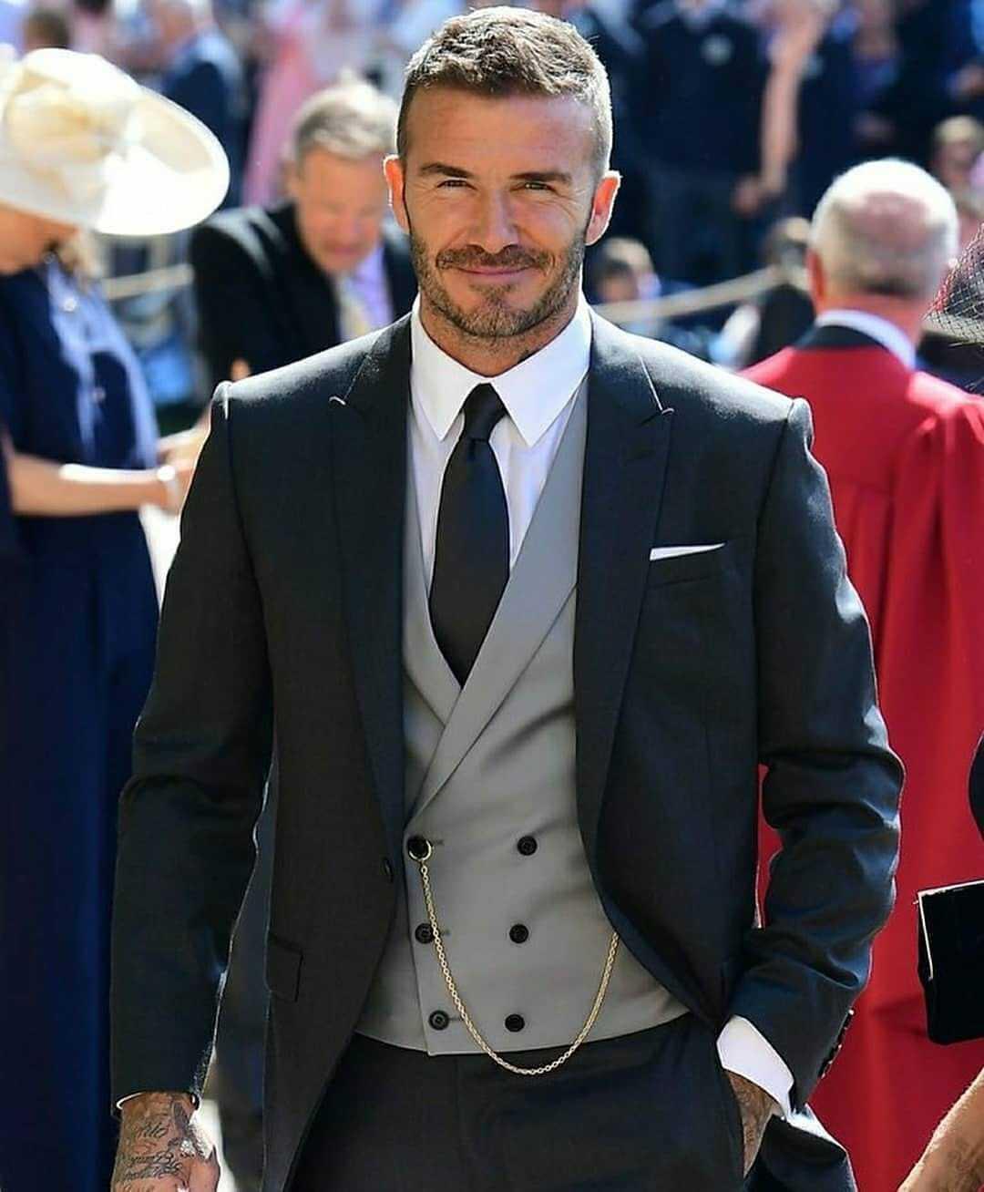 Девід Бекхем на королівському весіллі.