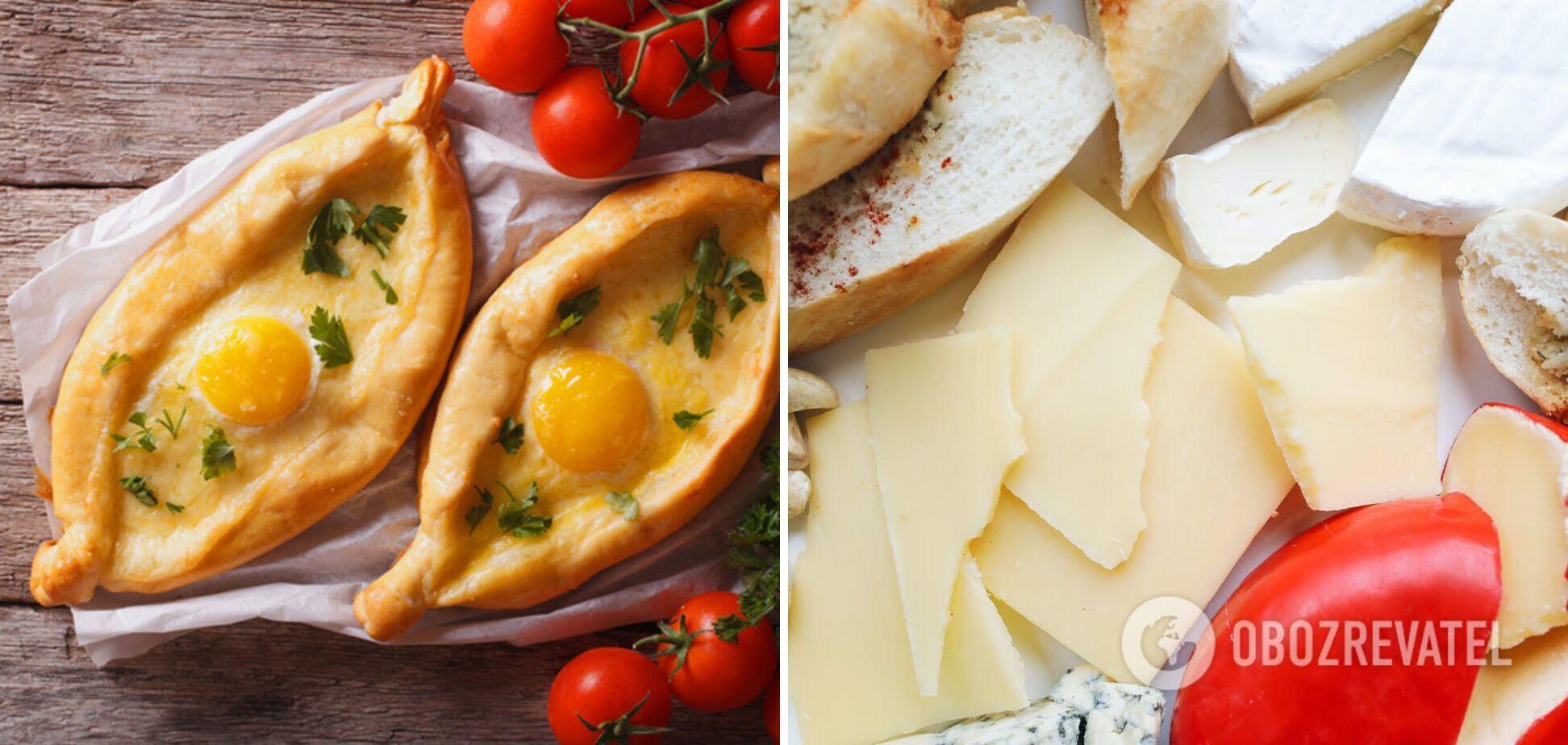 Хачапури с различными видами сыра