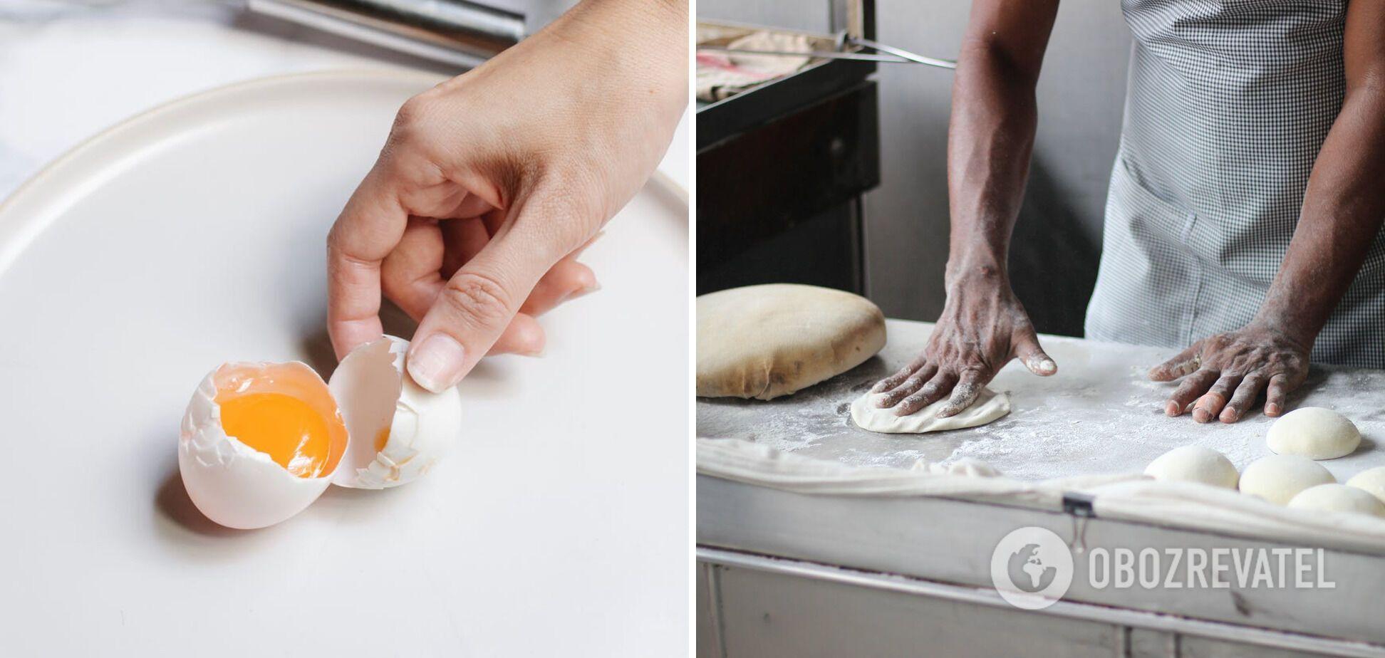 Приготовление хачапури с яйцом