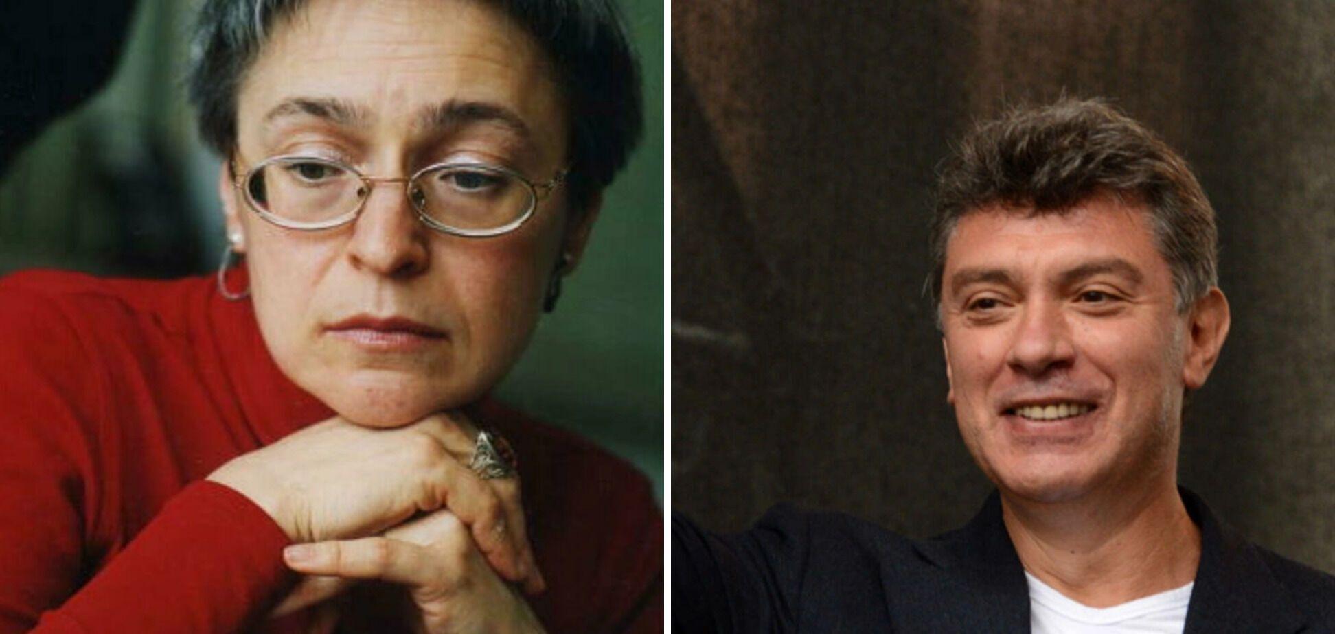 Анна Политковская и Борис Немцов