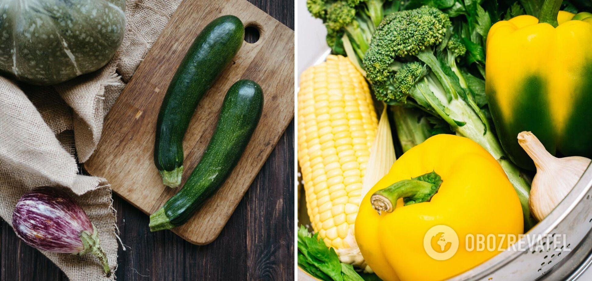 Овочі для приготування корисних страв