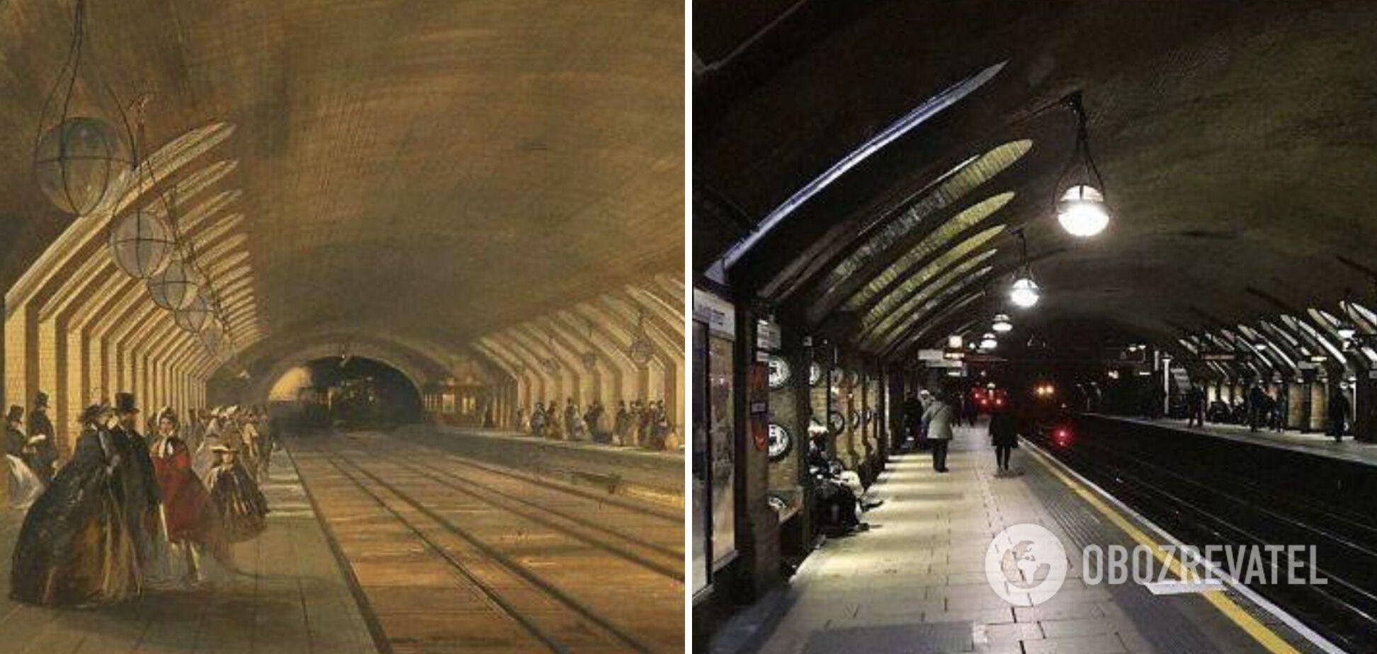 Самая старая станция метро 157 лет назад и сейчас