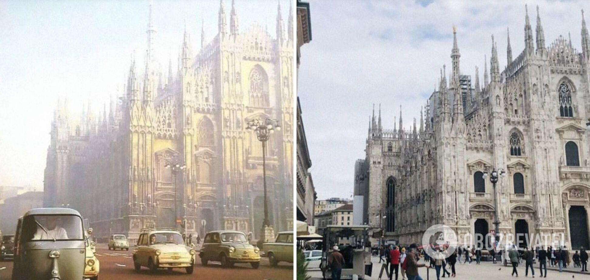 Милан в 1950-х и сейчас.
