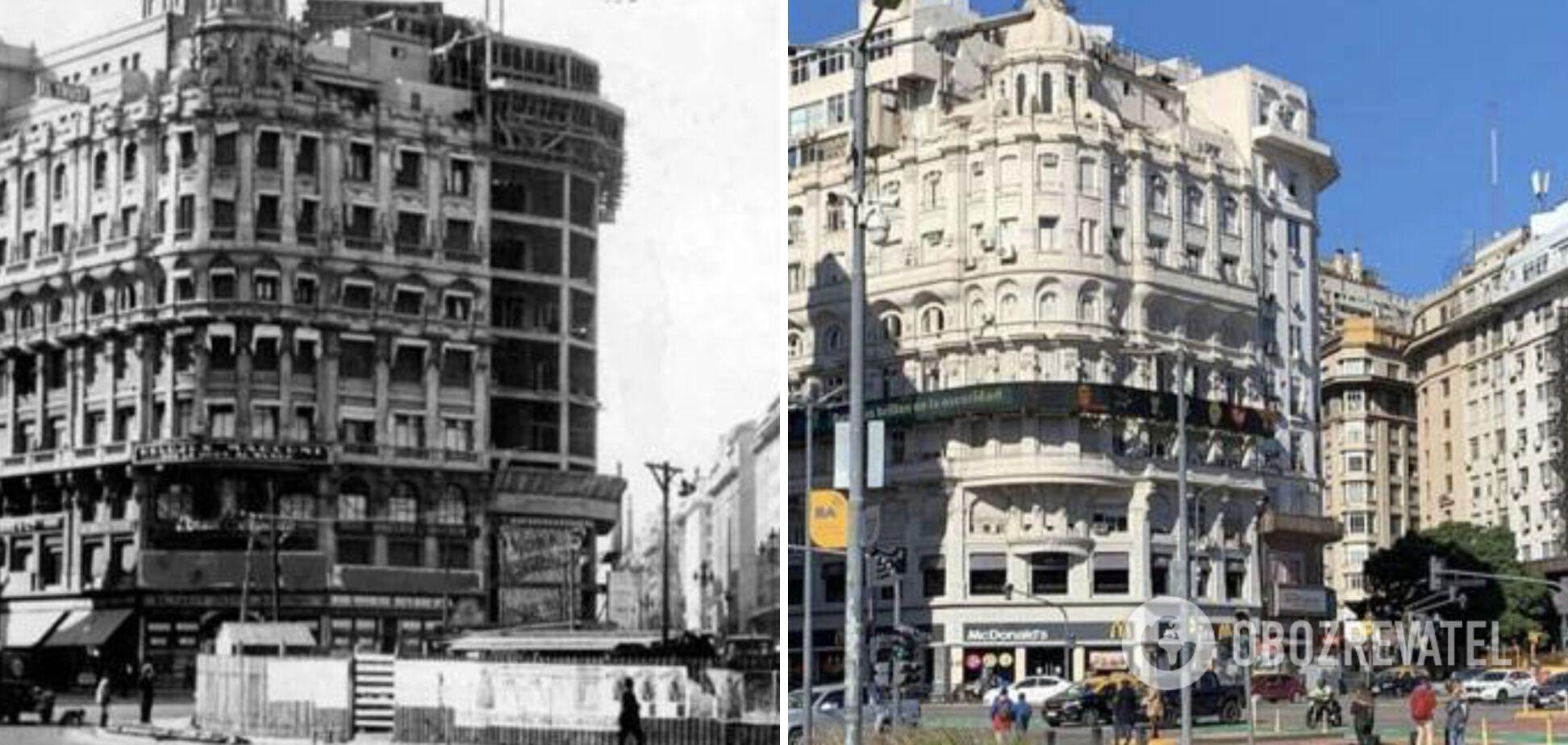 Буэнос-Айрес в 1925 году и в 2021.