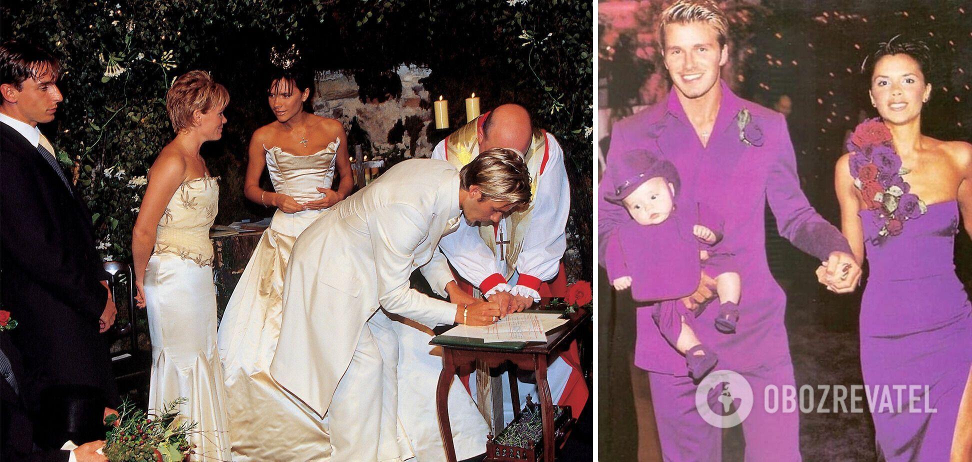 Весілля Девіда Бекхема і Вікторії Адамс у 1999 році.