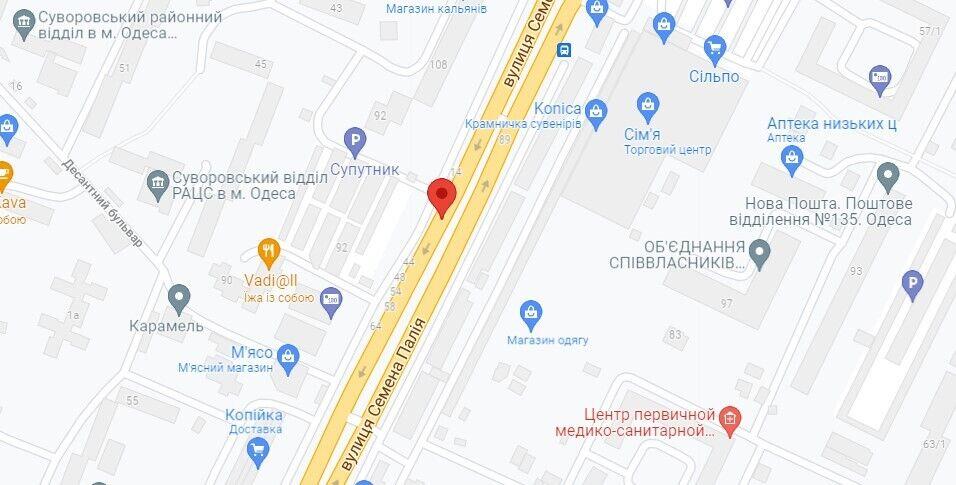 Нападение произошло у дома на ул. Семена Палия, 22а