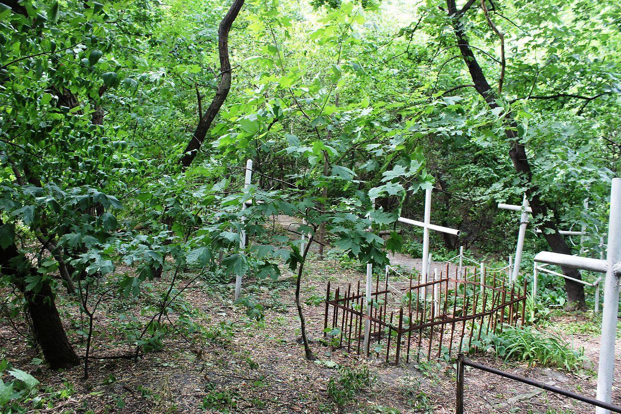 Кладбище давно заброшено.