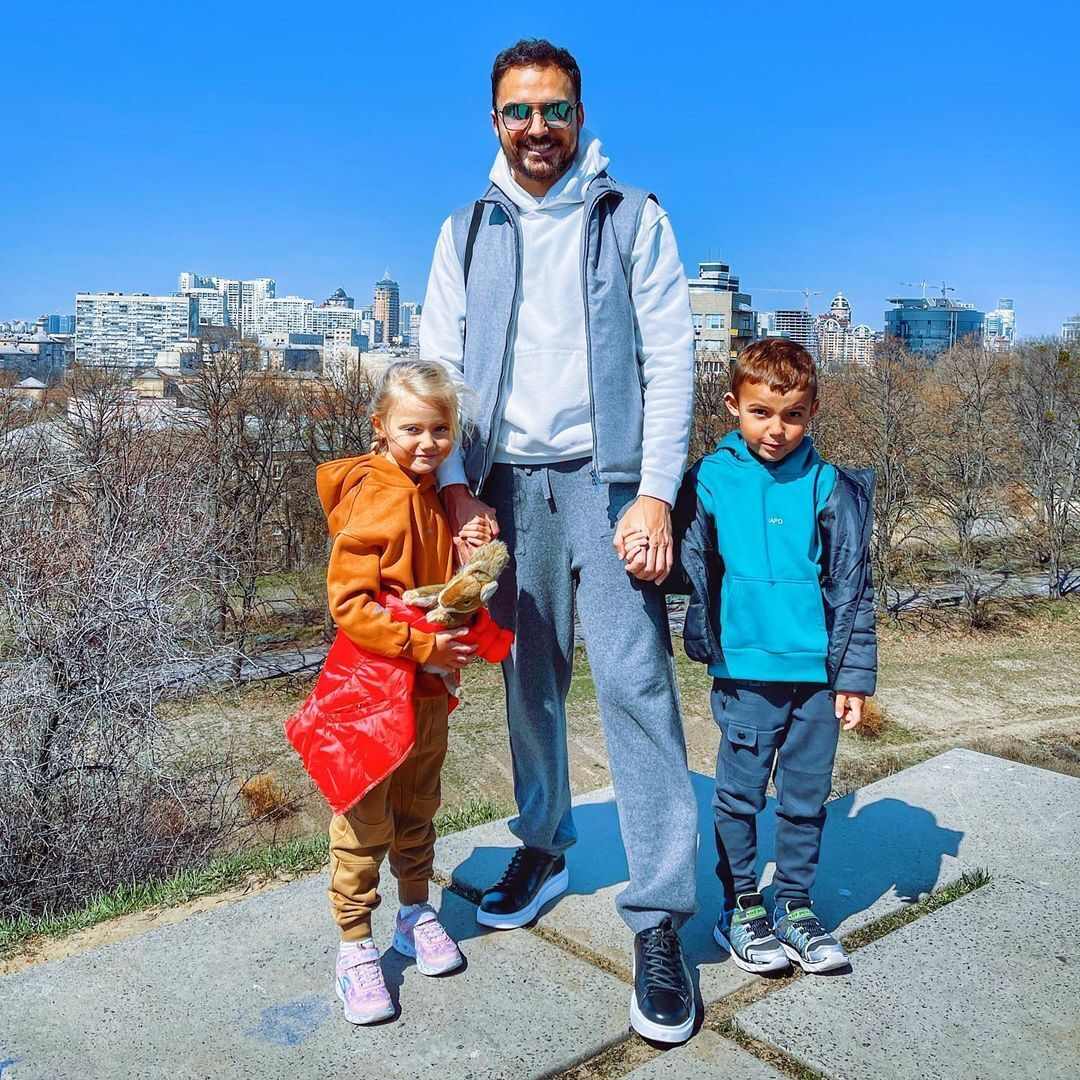 Эдгар Каминский с детьми – Лаурой и Леонардом