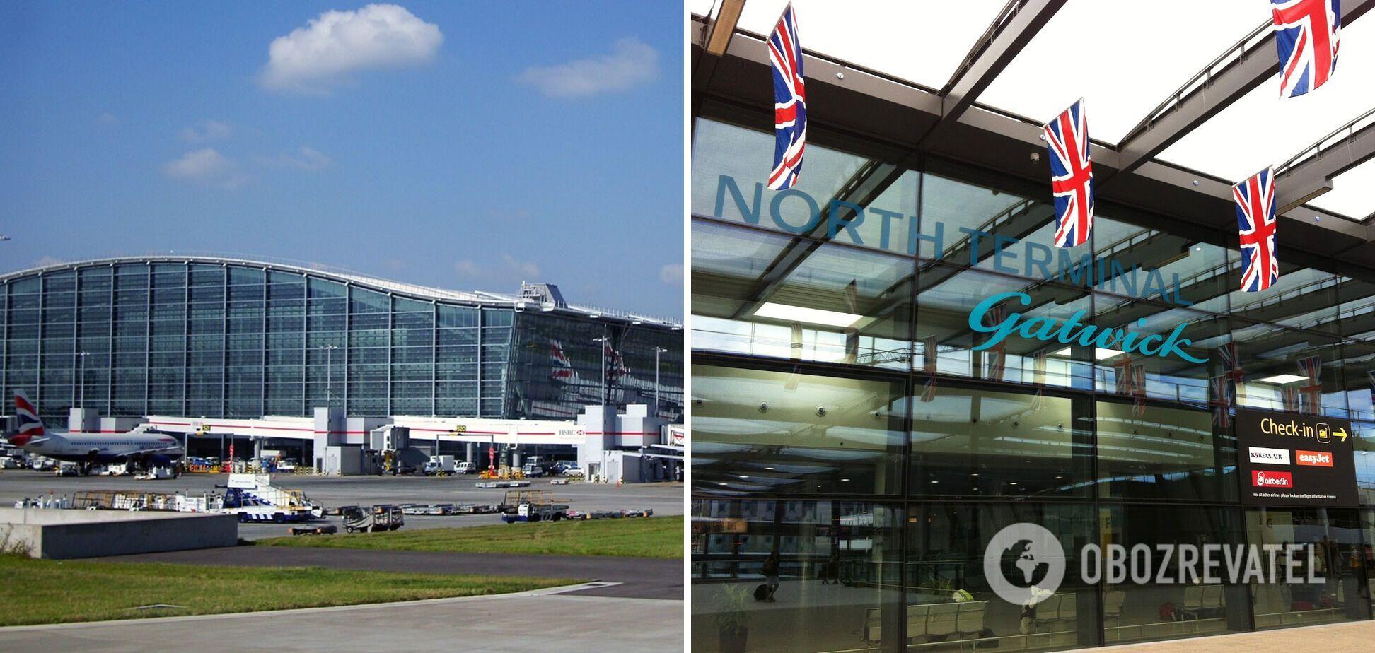 Аэропорты Гатвик и Хитроу.