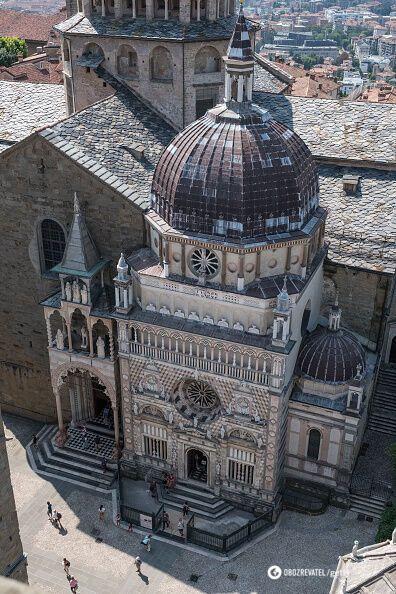 Старинный Бергамо всего в 50 км от Милана.