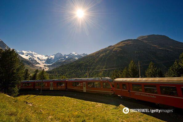 Панорамный экспресс в Швейцарию лучше любых развлечений...