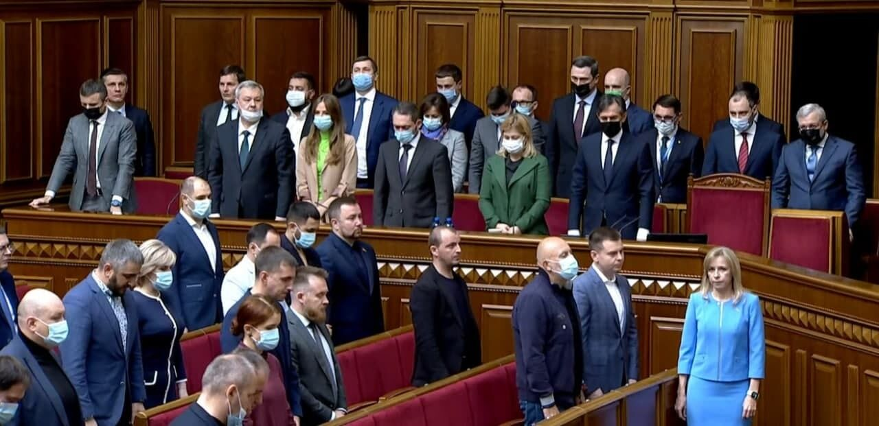 Нардепы почтили память Полякова.