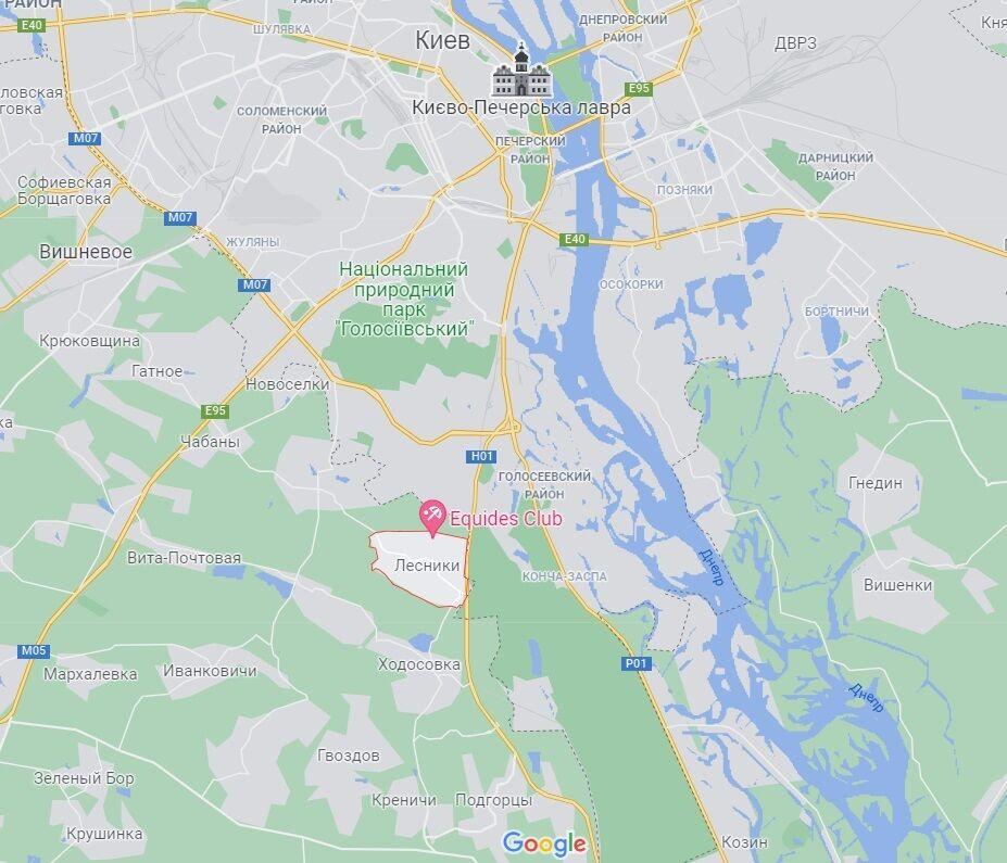 Село Лесники под Киевом.