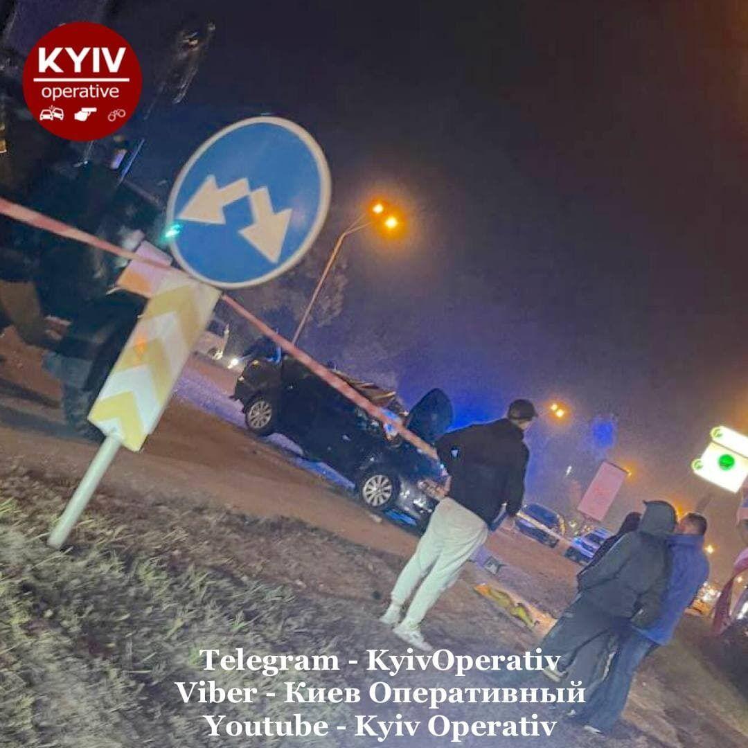 В Киеве произошло ДТП.