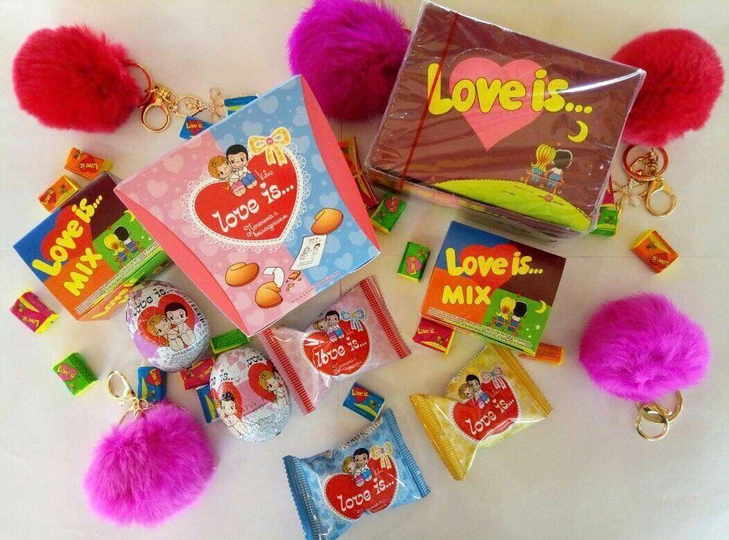 """Коробки жевательной резинки """"Love is…"""""""