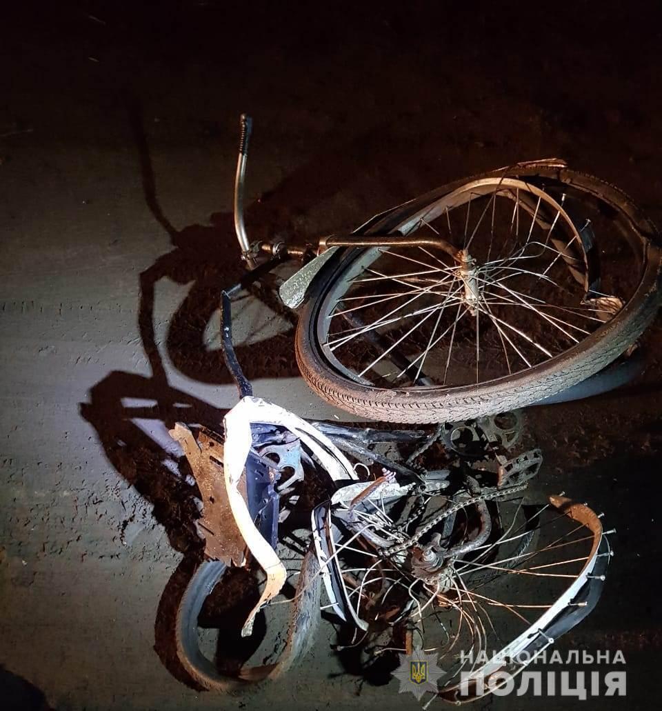 Велосипедист загинув на місці ДТП