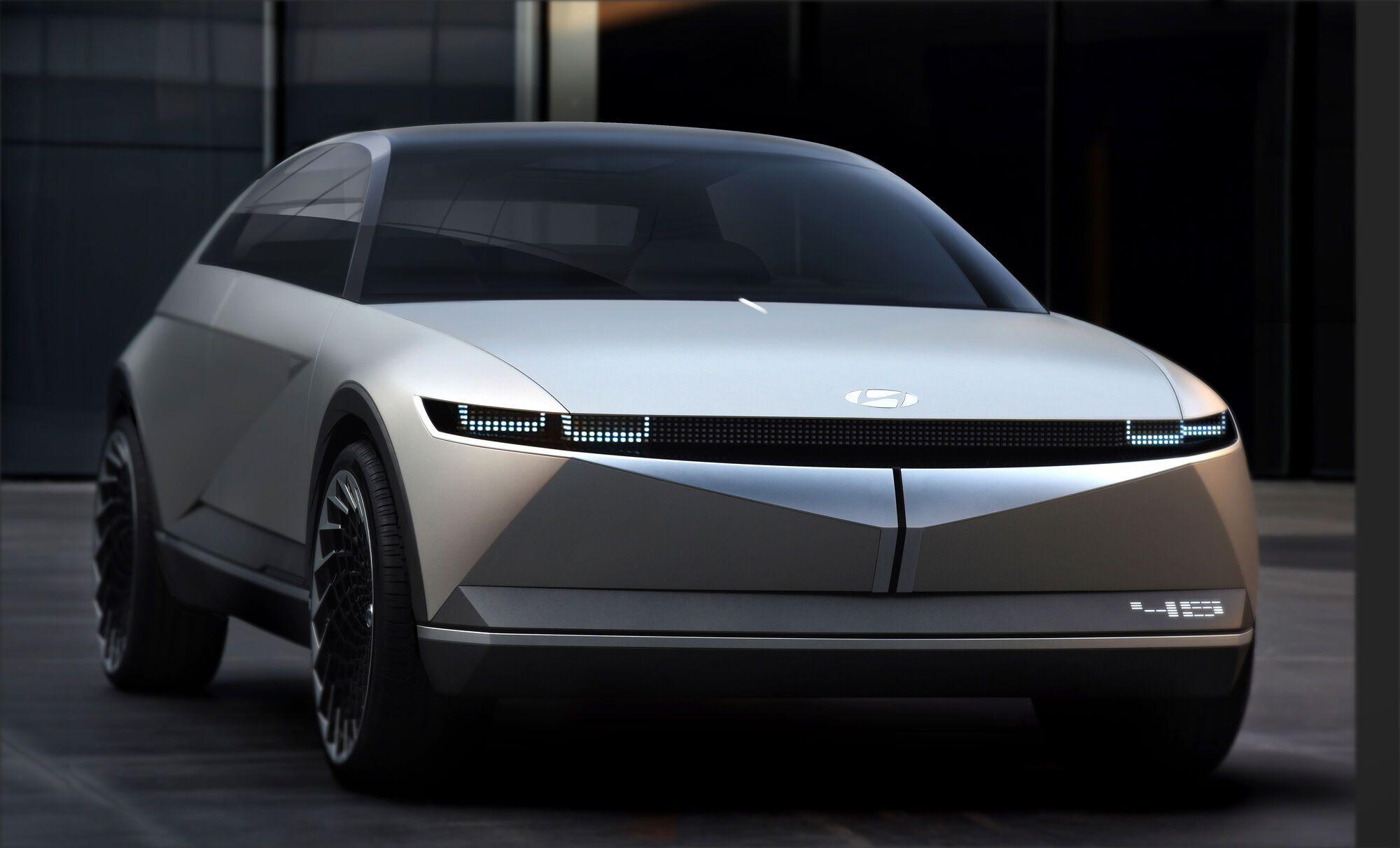 Автомобиль получит привлекательную внешность, напоминающую концепт Hyundai 45 EV