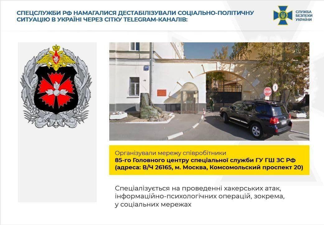 СБУ разоблачила агентурную сеть спецслужб РФ