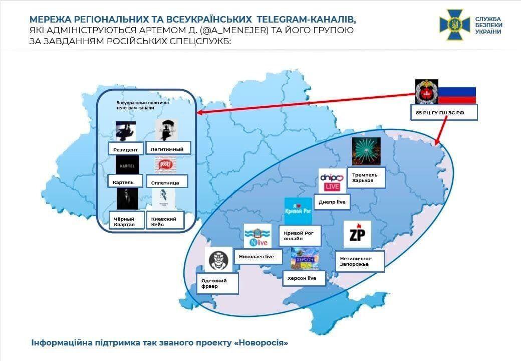 Спецслужбы РФ действовали через Telegram-каналы