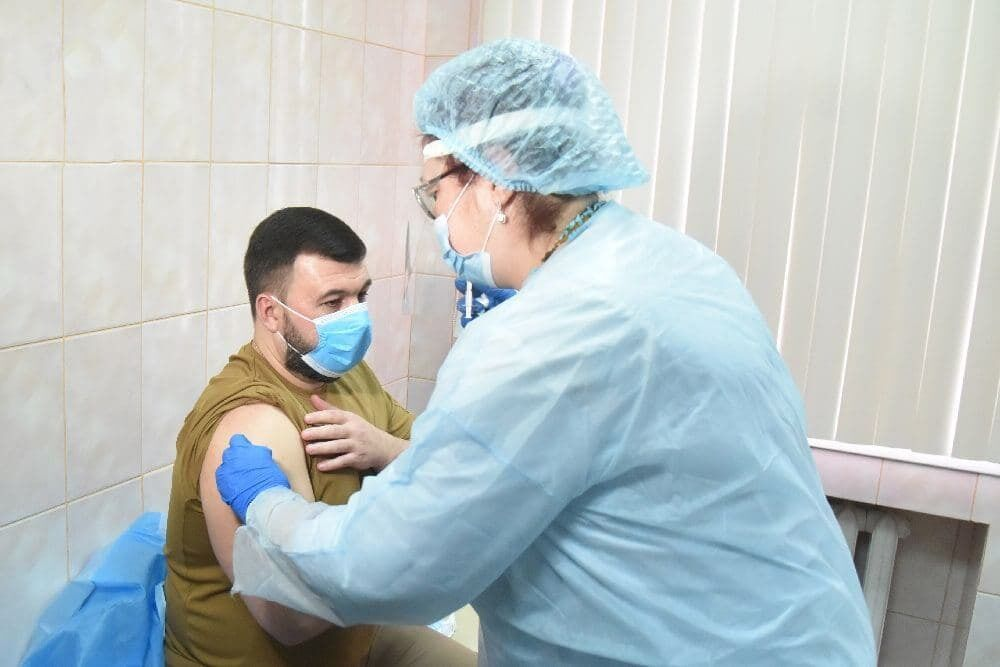 Пушилін зробив щеплення російською вакциною