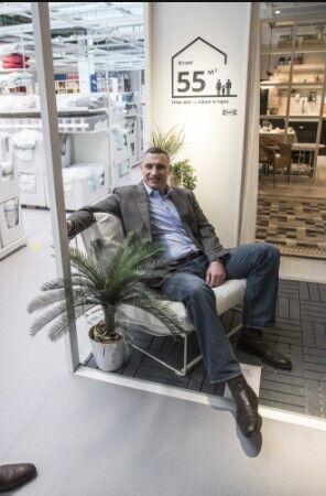 Кличко взяв участь у відкритті першого в Україні магазину ІКЕА