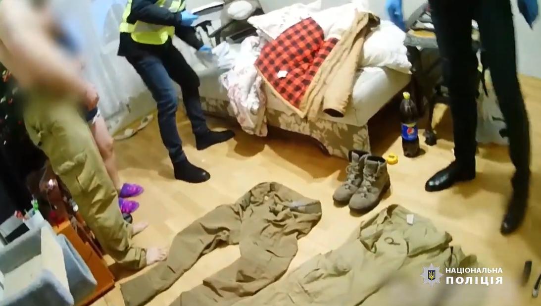 Обыск в квартире подозреваемого