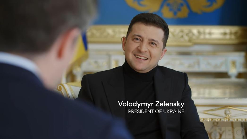 Кадры из интервью Зеленского