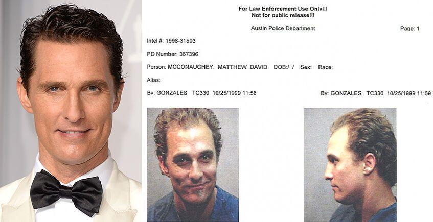 На Мэттью МакКонахи составили дело в полицейском участке