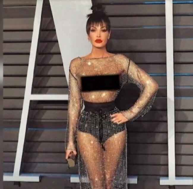 Леона Карети появилась на красной дорожке в платье Эльвиры Гасановой.